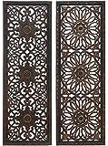 Benzara Set of 2 Wooden Wall Panels