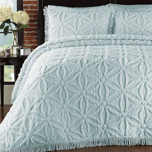 Lamont Home Lamont Home Arianna Bedspread Set, Pearl Blue, Cotton, King front-786597
