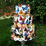"""3D Butterfly """"Natural"""" Garden Wedding Cake Topper Set (60x Butterflies)"""
