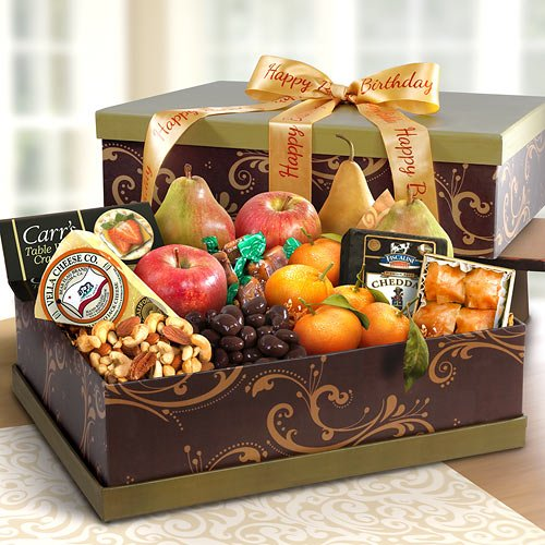 Happy Birthday Grand Fruit and Cheese Gift Box
