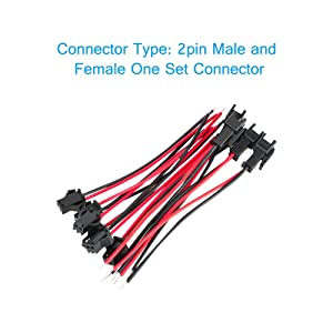 JST SM Connector, VANDESAIL SM 2Pin Jack Plug Male to Female Wire Connector Adapter Electrical Cable for LED Light Strip 20 Pairs 10CM (40 Pack, JST SM 2 Pin Connector) (Color: JST SM 2 Pin Connector, Tamaño: 40 Pack)