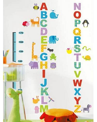 Ambience Live Vinilo Decorativo Alphabet and animals kidmeter for children