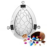 Large Size Easter Egg Mold - MoldFun Giant Surprise Toy Egg Maker, Dinosaur Egg Polycarbonate Plastic Mould for Chocolate Jello Soap Bath Bomb Lotion Bar Clay Plaster Cake Decorating Tool