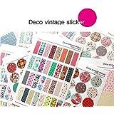 Deco Vintage style Sticker set - 6 sheets Creative Retro Scrapbooking Craft