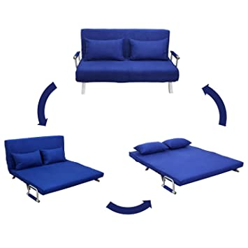 GHP Blue Modern Mulberry Sofa/Bed Mattress/Soft Couch Lounge Furniture