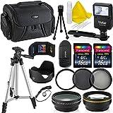 Professional 58MM Accessory Bundle Kit For Canon T6 T5 T4 T3 T2 T1 & DSLR Cameras , 15 Canon Accessories