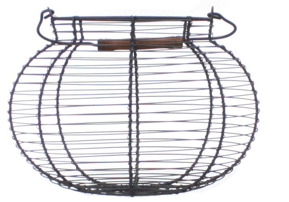 Antique Style Wire Egg Basket Shabby Cottage Chic Country Home Decor 1