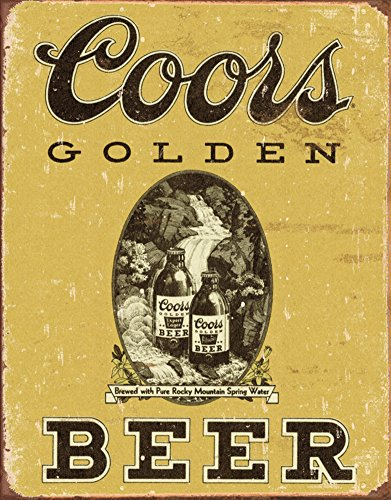 COORS Golden Vintage Tin Sign , 12x16 0