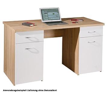 Bro Schreibtisch Sonoma Eiche Arbeitszimmer Brombel PC-Tisch Computertisch