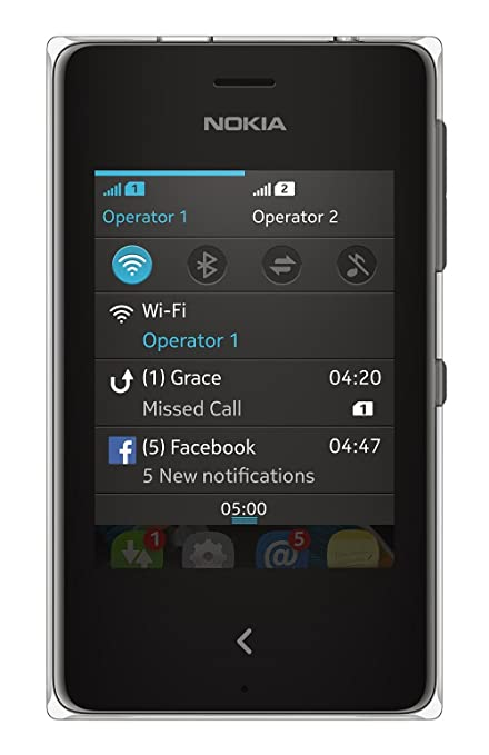 Nokia Asha 500  Dual SIM, Black  available at Amazon for Rs.4890