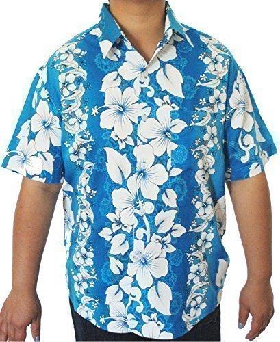 Hawaii Hemd Herren blau Delphine Größe S