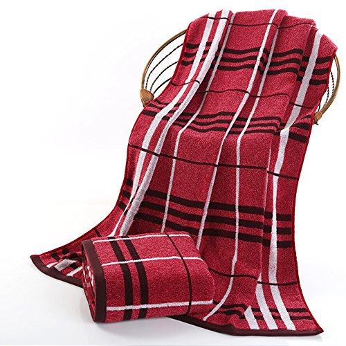 adulto asciugamano/Asciugamano in cotone ispessimento aumentato assorbente/ telo da bagno di lovers City boy Plaid cotone uomini-A