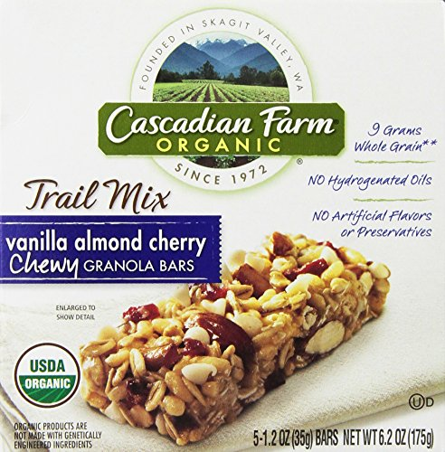 ... Organic Trail Mix Chewy Granola Bars, Vanilla Almond Cherry, 6.2 Ounce