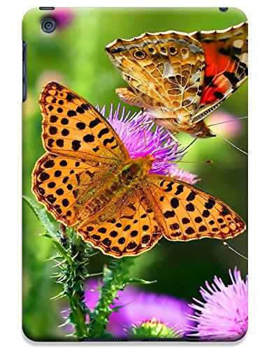 Fantastic Faye Cell Phone Cases For Ipad Mini No.10 The Beautiful Design With Colorful Butterfly Fly On The Leaves Or Flowers