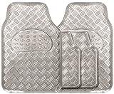 Streetwize SWUXM1 Silver Checker Plate Mat Sets