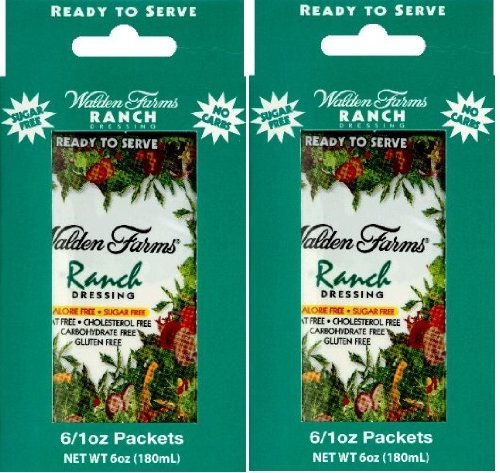 Walden Farms Ready To Serve Dressing Packets Ranch -- 6 Packets - 1