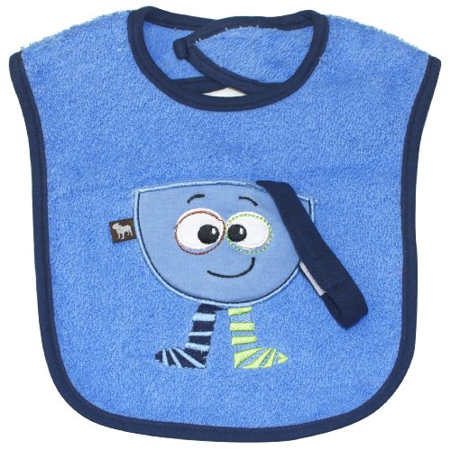 Treasure Pocket Bib (blue), Frenchie Mini Couture