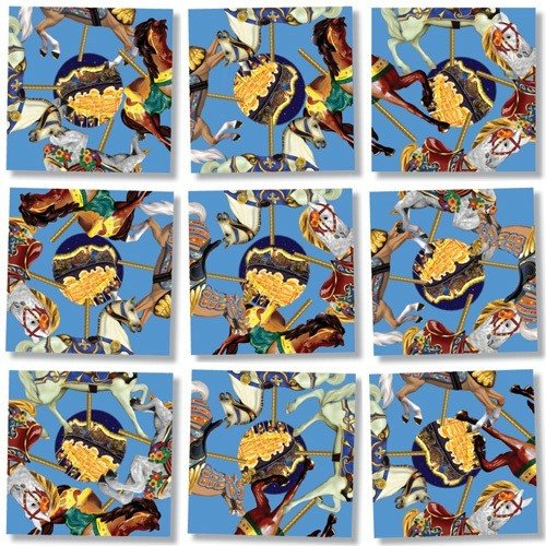 Scramble Squares Puzzle Carousel Ponies - 1