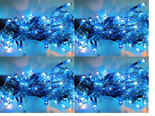 ASCENSION Set Of 4 Rice Lights Serial Bulbs Decoration Lighting For Diwali Christmas (BLUE)