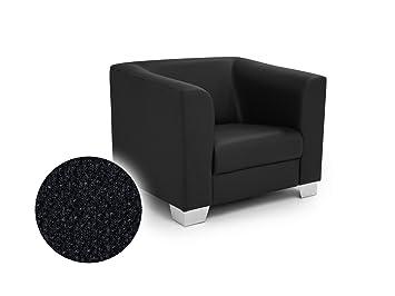 CHICAGO Sessel Webstoff Berlin schwarz