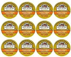 Grove Square Salted Caramel Hot Cocoa, 12 Single Serve Cups