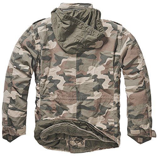 Brandit Men's M-65 Giant Jacket Light Woodland 1
