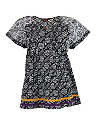 Karni Women's Cotton Black & White Kurti - B00VA9SUB6