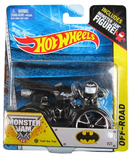 Hot Wheels Off-Road Series #21 Batman with Track Ace Tires, Includes Monster Jam Figure