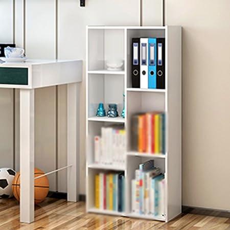 Estantería, simple Complejo libre del alumno del niño de la combinación Estante de la esquina Múltiples capas Hogar de la oficina estante pequeño gabinete 120 * 32 * 11cm