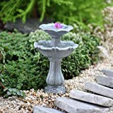 Miniature Fairy Garden Double Birdbath