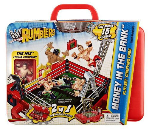 Imagen de WWE Rumblers dinero en el caso del Banco de transporte y Playset