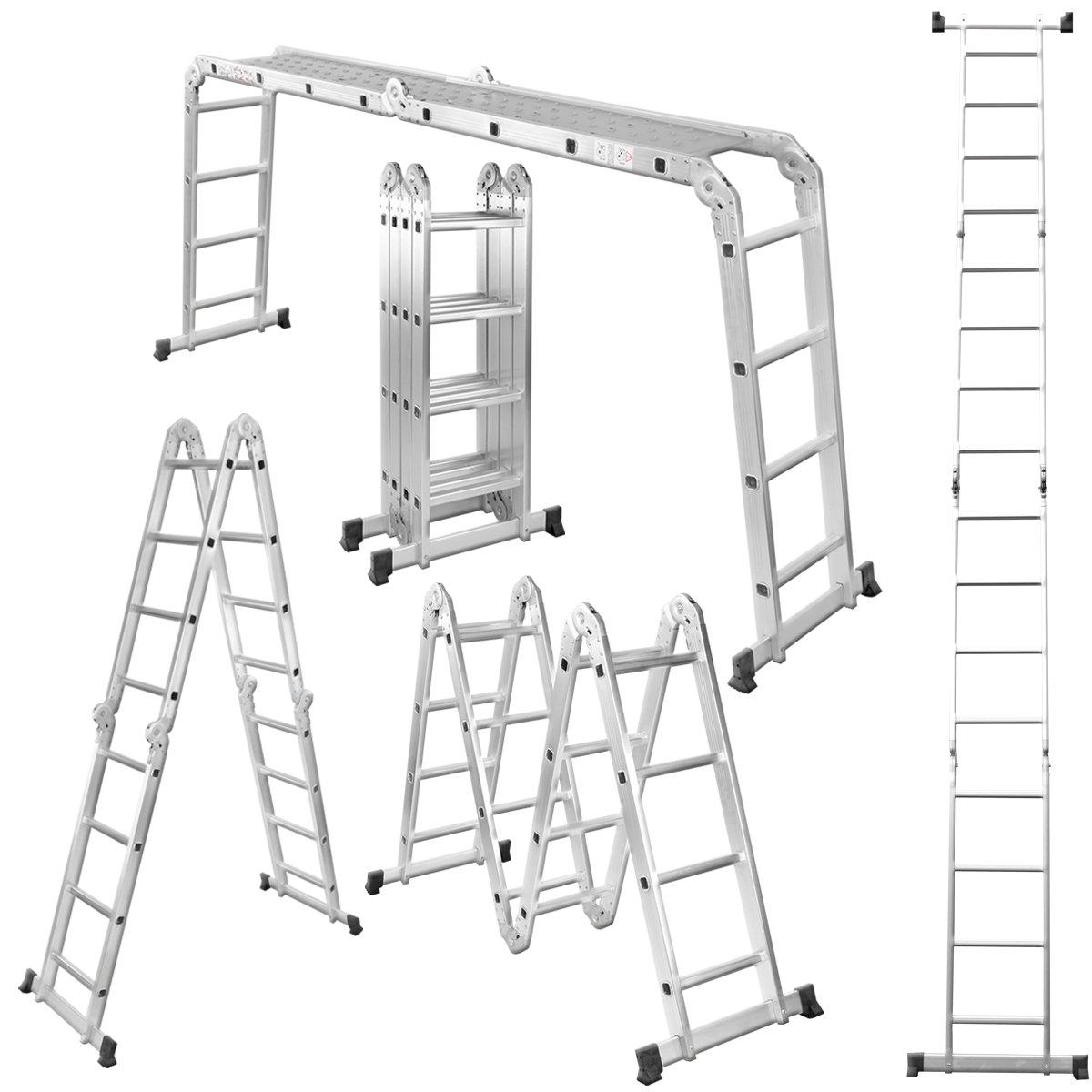 Torrex 30328 14in1 ALU 4,6 m Gerüstleiter / Mehrzweckleiter (16 Sprossen) inklusive Einlegeböden / Leiter Stehleiter Anlegeleiter Arbeitsbühne  BaumarktKundenbewertung und weitere Informationen