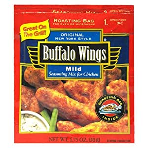 Buffalo Wings Seasoning Mix for Chicken, Mild, 1.75-Ounce Packets (Pack of 12)