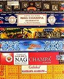 Räucherstäbchen 12 Schachteln Nag Champa Varianten Satya Goloka 182g Incense Sticks