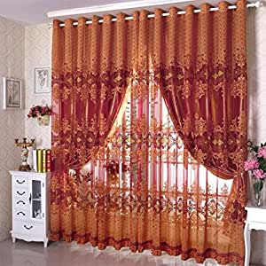 Home decoration curtains for windows burnt tulle screens curtain 3 custom - Amazon curtains living room ...