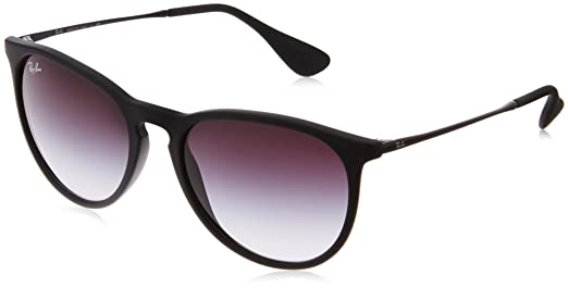 Ray-Ban Women's Erika Round Sunglasses,Non-Polarized,Black Frame/Gray Gradient Lens,54 mm
