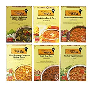 Kitchens of India  Heat &  Eat,  Dinner Variety Pack, 10 Ounce Boxes (Pack of 6)