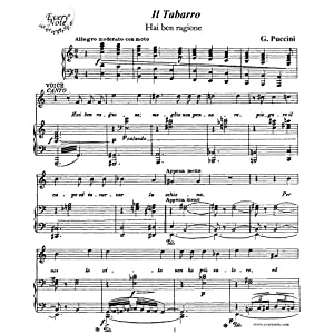 Puccini: Il Tabarro - Hai ben ragione - Luigi, tenor: Instantly download and print sheet music Puccini