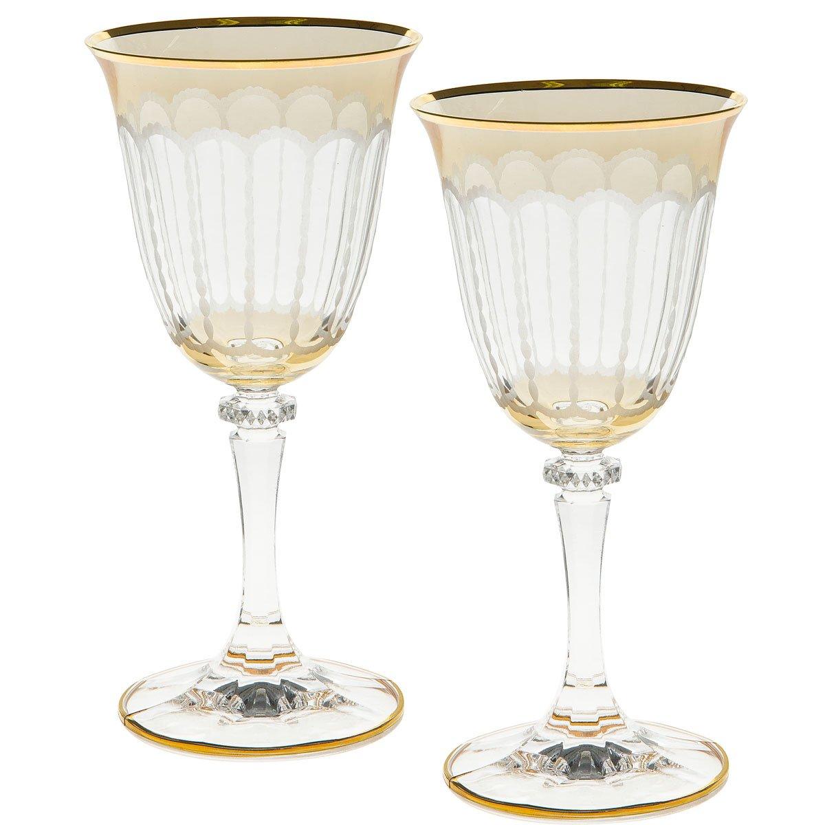 Gold christmas wine glasses christmas wikii for Holiday stemware