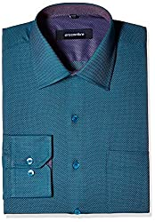 Greenfibre Men's Formal Shirt (97HT_40_Multicolour)