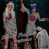 1284-prisoner(M):ハロウィンゾンビ囚人プリゾナープリズンスプラッターコスプレコスチューム仮装衣装ゾンビ大きいサイズホラー怖い血まみれ大人用血のりナース服レディースコスチューム(M)