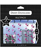 Creative Converting Dizzy Danglers Martini Glass and High Heels Hanging Party Decor - Bachelorette Party Decor