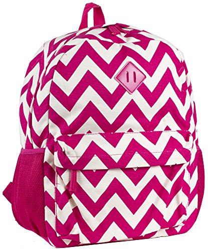 Ever Moda Pink Chevron Backpack School Bags