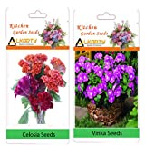 Alkarty Celosia And Vinca Seeds pack of 20 (summer)