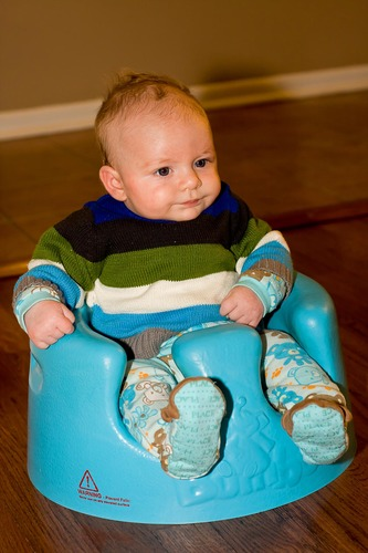 Review Bumbo Floor Seat, Blue
