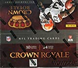 2012 Panini Crown Royale NFL Football HUGE 24 Pack Retail Box with 240 Cards and AUTOGRAPH or MEMORABILIA Card ! Look for Rookie Card And Autographs of Russell Wilson, Andrew Luck and More !