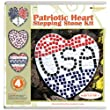 Diamond Tech Stepping Stone Kit, Patriotic Heart Stepping Stone