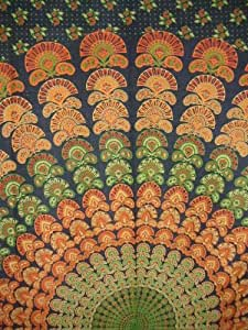 Sanganeer Tapestry-Wall Hang-Peacock Design-Nice