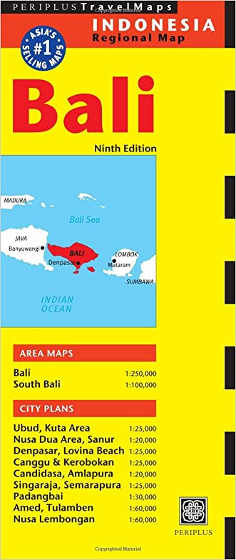 Bali Travel Map Ninth Edition (Periplus Travel Maps)