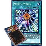YuGiOh : YMP1-EN008 Limited Ed Malefic World Secret Rare Card - ( Movie Pack Yu-Gi-Oh! Single Card )